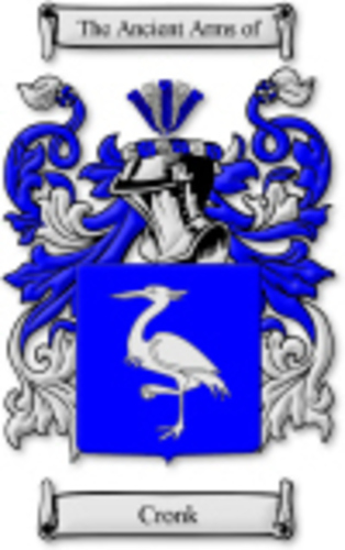 CRONK Family Crest And Coat Of Arms. House Of Names